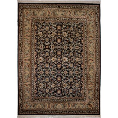 Canning Persian Hand-Knotted Wool Brown/Navy Area Rug