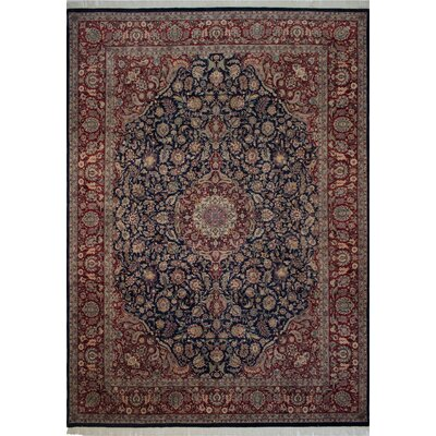 Canning Persian Hand-Knotted Wool Red/Navy Area Rug