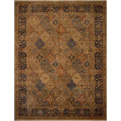 Branner Hand-Knotted Wool Brown/Blue Area Rug