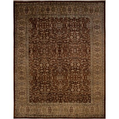 Branner Turkish Hand-Knotted Wool Rust/Tan Area Rug