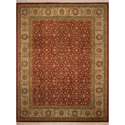 Canning Persian Hand-Knotted Wool Brown/Red Area Rug