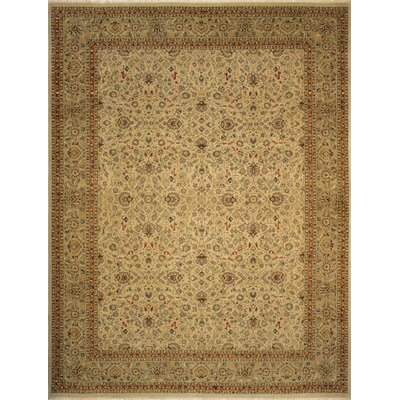 Branner Turkish Hand-Knotted Wool Beige/Brown Area Rug