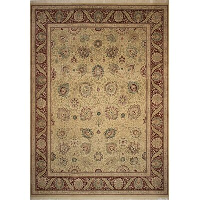 Canning Persian Hand-Knotted Wool Gold/Red Area Rug