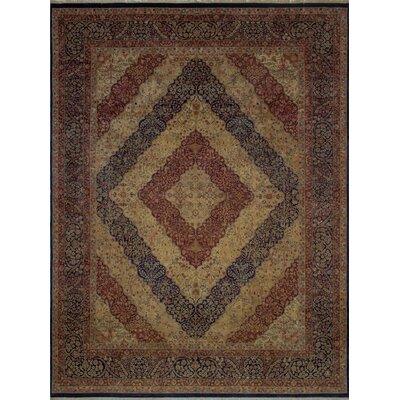 Canning Persian Hand-Knotted Wool Navy/Red Area Rug