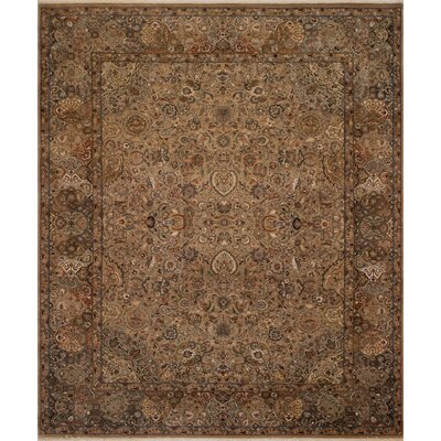 Maly Vegetable-Dyed Hand-Knotted Wool Brown Area Rug