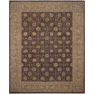 Branner Turkish Hand-Knotted Wool Purple/Gold Area Rug