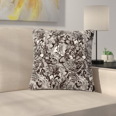 Shielei Patricia Muniz Secret Dream Abstract Outdoor Throw Pillow Size: 16 H x 16 W x 5 D