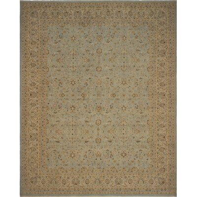 Branner Turkish Hand-Knotted Green/Brown Area Rug