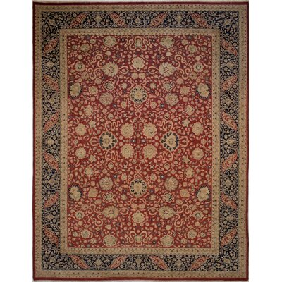 Maly Vegetable-Dyed Hand-Knotted Wool Navy/Red Area Rug