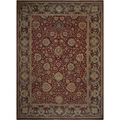 Canning Persian Hand-Knotted Wool Burgundy/Brown Area Rug