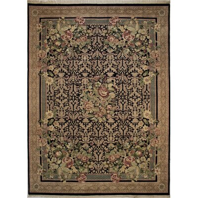 Canning Persian Hand-Knotted Wool Black/Brown Area Rug