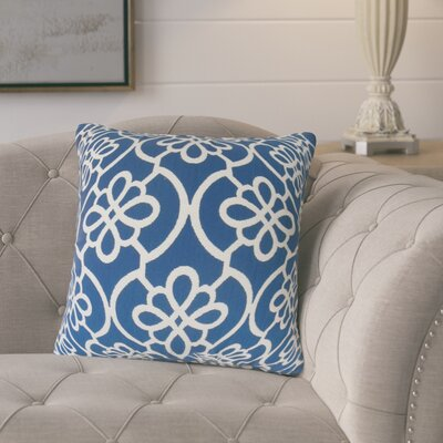 Adalric Geometric Cotton Throw Pillow Color: Navy