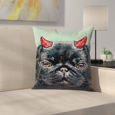 Michael Creese Devil Pug Throw Pillow Size: 16 x 16