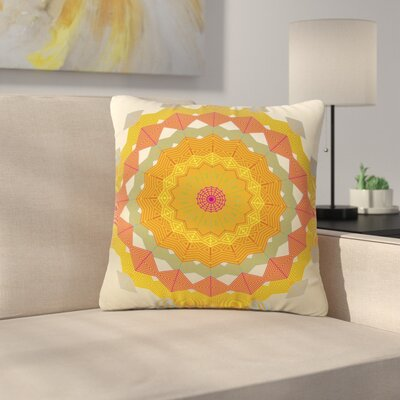 Angelo Cerantola Composition Outdoor Throw Pillow Size: 18 H x 18 W x 5 D, Color: Orange