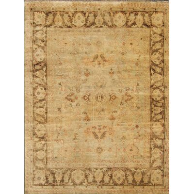 One-of-a-Kind Josephson Oushak Hand-Knotted Wool Grayish Green Area Rug