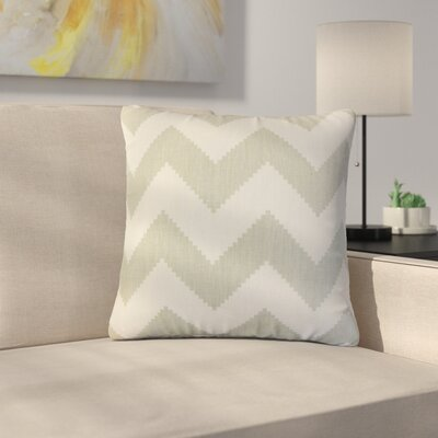 Svendsen Zigzag Linen Throw Pillow Color: Gray