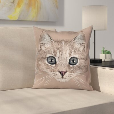 Animal Square Pillow Cover Size: 16 x 16