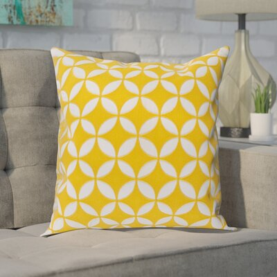 Baur Perimeter 100% Cotton Throw Pillow Cover Size: 22 H x 22 W x 1 D, Color: YellowNeutral