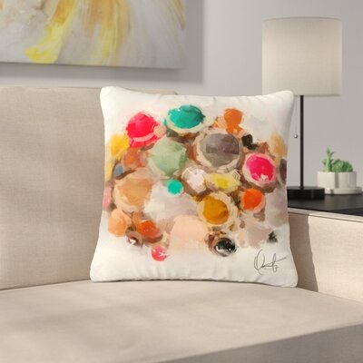 Oriana Cordero La Maddalena Abstract Outdoor Throw Pillow Size: 18 H x 18 W x 5 D