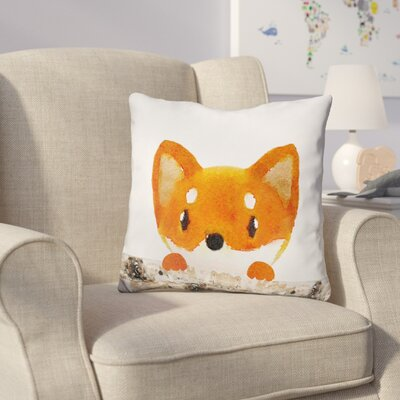 Decarlo Fox Logs Half Throw Pillow