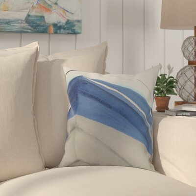 Crider Boat Bow Left Print Indoor/Outdoor Throw Pillow Color: Taupe, Size: 18 x 18