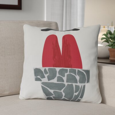 Away He Goes Throw Pillow Size: 16 H x 16 W, Color: Gray