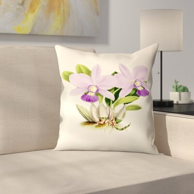 Fitch Orchid Cattleya Walkeriana Throw Pillow Size: 14 x 14