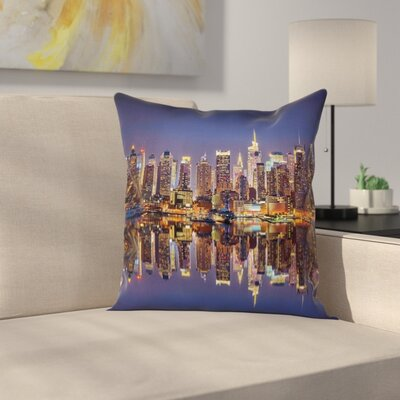 New York City USA Cushion Pillow Cover Size: 18 x 18