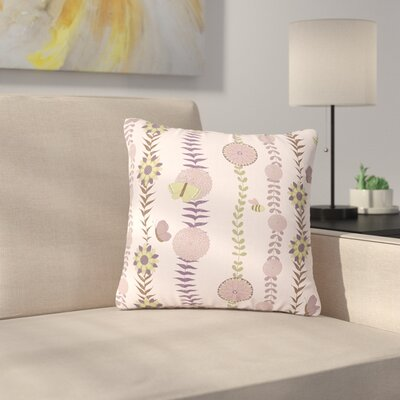 Judith Loske Flower Blush Pattern Outdoor Throw Pillow Size: 18 H x 18 W x 5 D