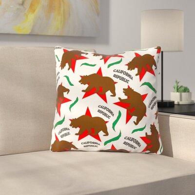 California Pattern by Danny Ivan Throw Pillow Size: 26 H x 26 W x 5 D