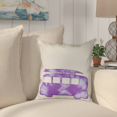Golden Beach Beach Drive Geometric Outdoor Throw Pillow Size: 18 H x 18 W, Color: Purple