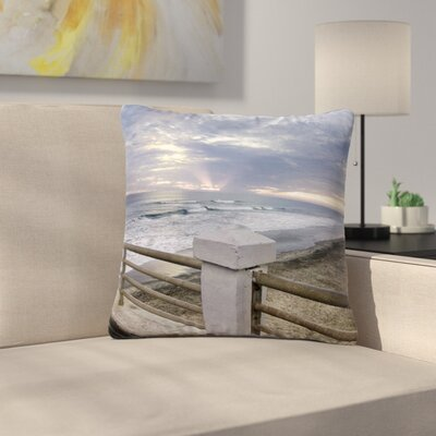 Nick Nareshni Oceanside Pier at Sunset Coastal Photography Outdoor Throw Pillow Size: 16 H x 16 W x 5 D
