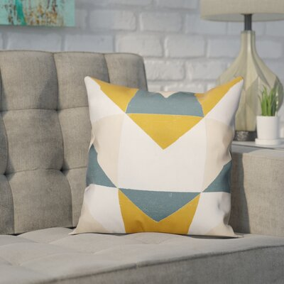 Laursen Geometric Abstract Throw Pillow Size: 16