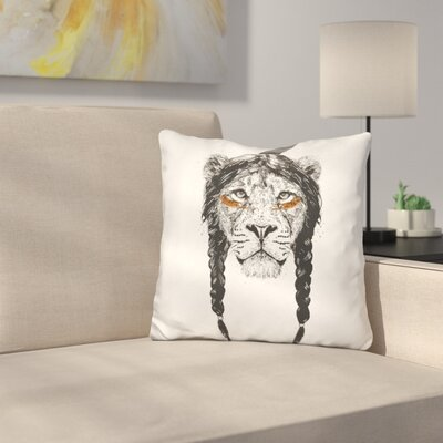 Warrior Lion Throw Pillow