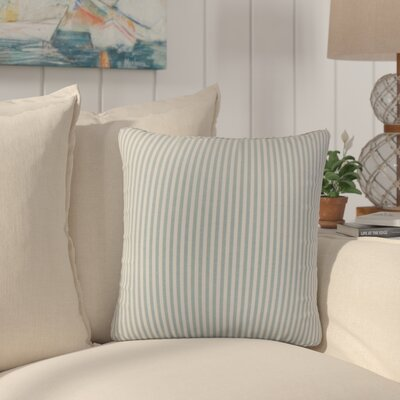 Montego Stripes Cotton Throw Pillow Color: Aqua