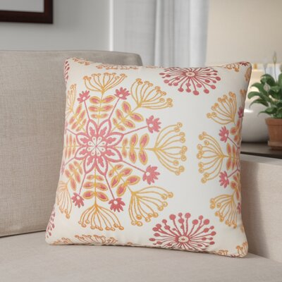 Benesh Floral Cotton Throw Pillow