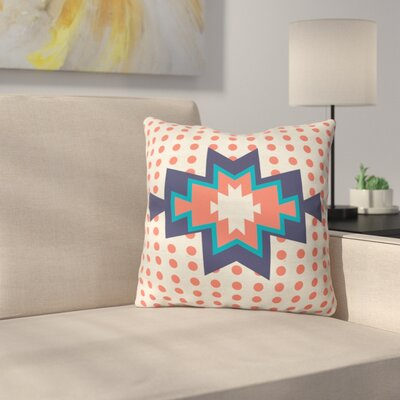 Southest Pin Dot Polyester Throw Pillow Size: 16 H x 16 W x 4 D, Color: Red