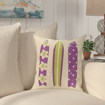 Pembrook Triple Surf Geometric Throw Pillow Size: 26 H x 26 W, Color: Purple
