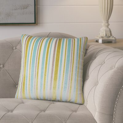 Griffeth Striped Throw Pillow Color: Caribbean