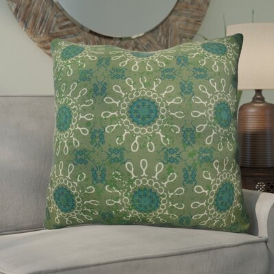 Clarence Geometric Euro Pillow Color: Green