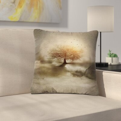 Viviana Gonzalez Lone Tree Love IV Nature Outdoor Throw Pillow Size: 16 H x 16 W x 5 D