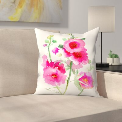 Hollyhock Throw Pillow Size: 18 x 18