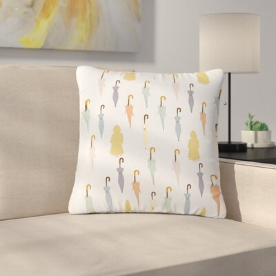 Stephanie Vaeth Umbrellas Illustration Outdoor Throw Pillow Size: 16 H x 16 W x 5 D