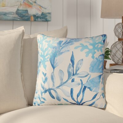 Everly Cotton Throw Pillow Color: Blue