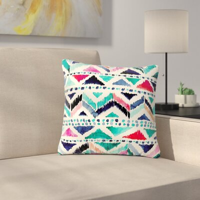 Crystal Walen Celestial Tribal Stripe Chevron Outdoor Throw Pillow Size: 18 H x 18 W x 5 D