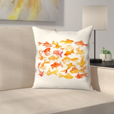 Goldfish Throw Pillow Size: 18 x 18