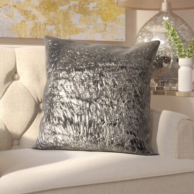 Fleischman Throw Pillow Size: 24, Color: Black Opium