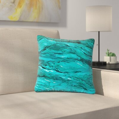 Marble Idea! Throw Pillow Size: 16 H x 16 W x 6 D, Color: Light Teal / Aqua