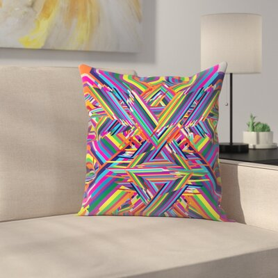 Joe Van Wetering The Shattering Throw Pillow Size: 18 x 18