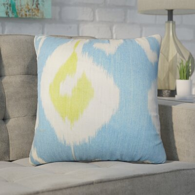 Witkowski Ikat Throw Pillow Color: Blue